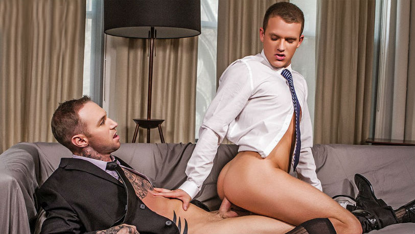 Brandon Wilde's bareback sex premiere with model Dylan James at Lucas Entertainment