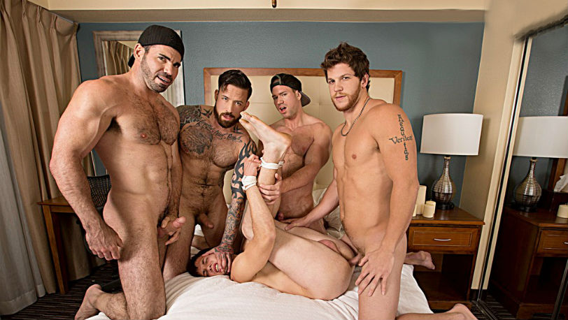 Billy Santoro, Jordan Levine , Beau Warner and Ashton McKay give James Edwards a payback at Bromo