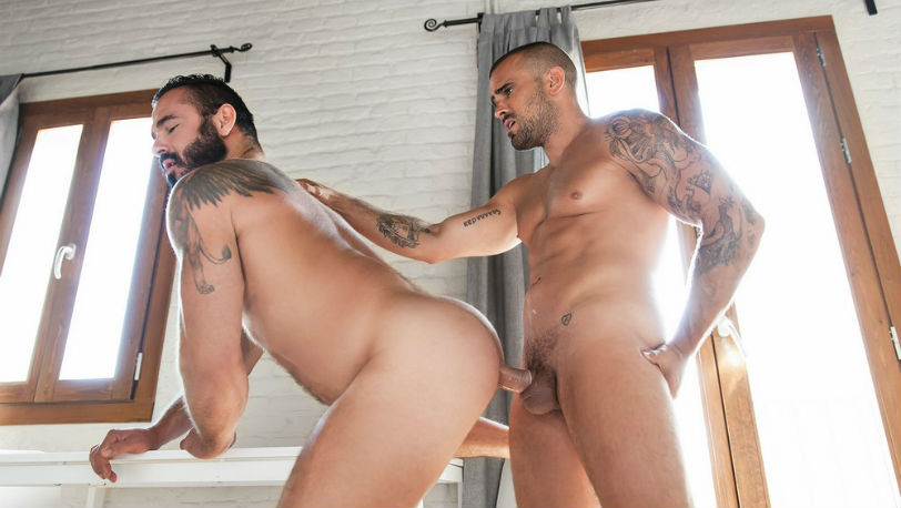 Damien Crosse will be the lucky man to plunge into Jessy Ares' hairy hole at Men.com