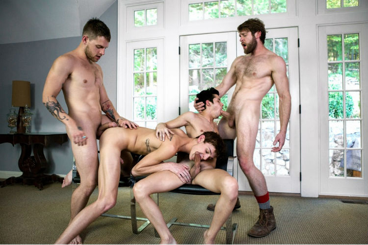 Levi, Tayte, Liam, Kody, Allen and Colby in One Erection Finale: It's Madness! from CockyBoys