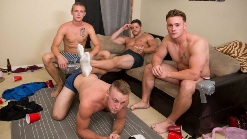 Trevor Long, Brandon Evans, Ashton and Zane Anders in a hot foursome at Reality Dudes