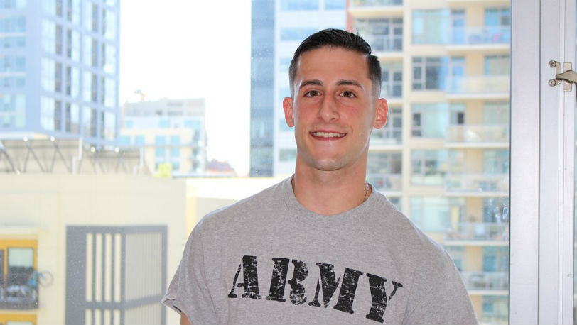 James Devlin strokes his firm erection at Active Duty