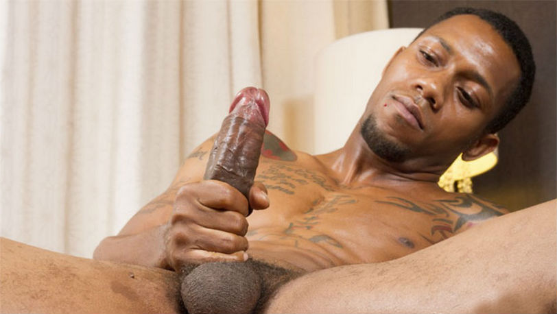 King Polo shows his delicious 9 inch uncut cock at ThugBoy
