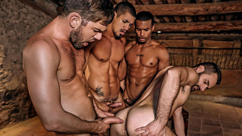 Jacen, Ibrahim, Zander and Wolf Rayet are having fun with each other at Lucas Entertainment