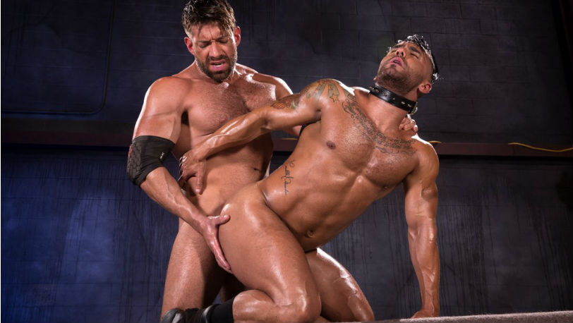 Bruce Beckham takes advantage of Bruno Bernal's ass at Raging Stallion