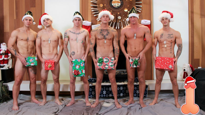 Hot Six man Christmas orgy ft Ryan Jordan and Quentin Gainz at Active Duty