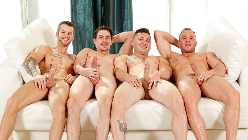 Meet The Fuck Buddies Quentin, Johnny, Jack and Jacob Durham at Next Door Studios