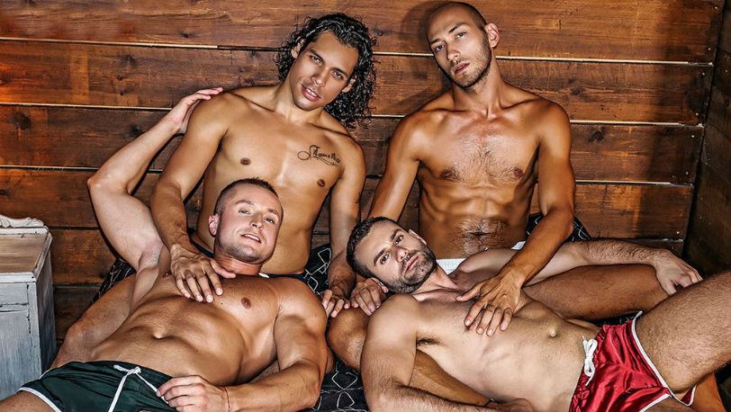 Wolf Rayet, Denis Sokolov, Alejandro Castillo and Dominic Arrow at Lucas Entertainment