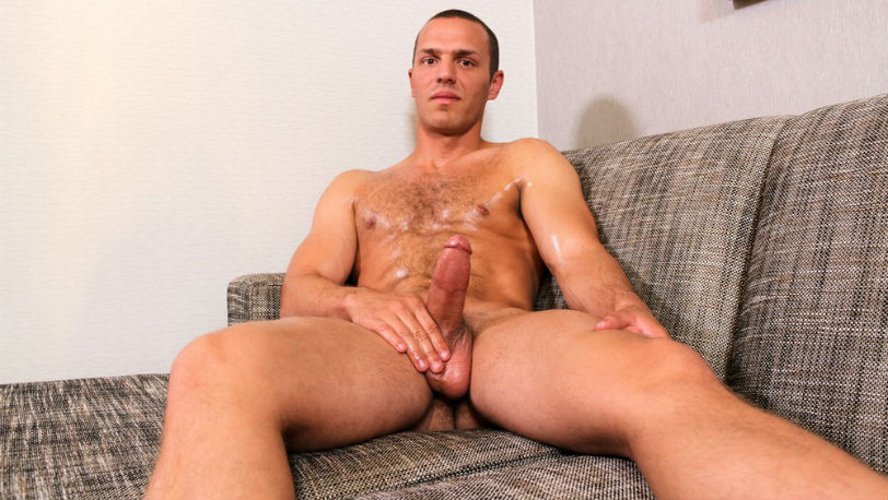 Tyler Marshall pumps out a nice cum blast for us at Active Duty