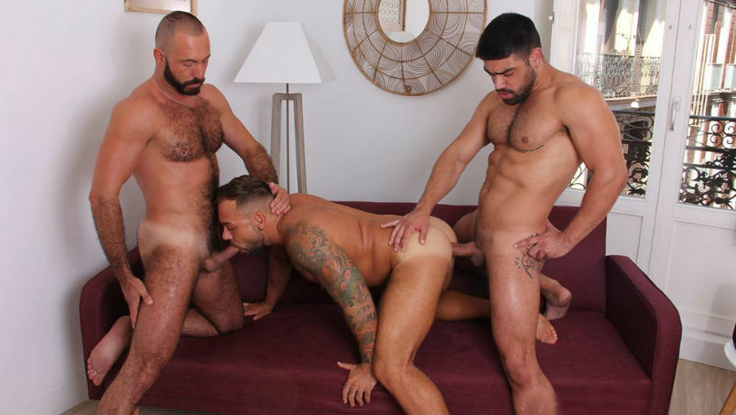 Wagner Vittoria, Xavi Garcia and Sergi Rodriguez in Deep And Tight from Kristen Bjorn