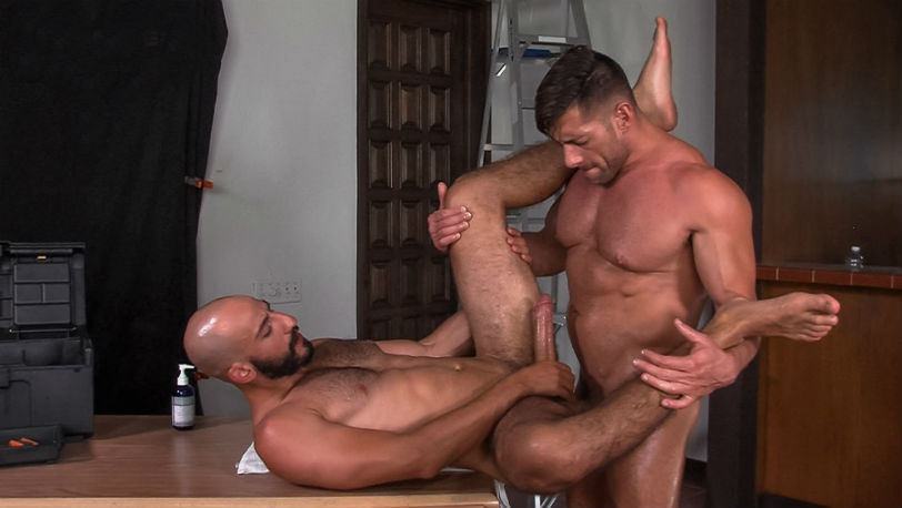 "Eric Nero and Bruce Beckham flip-fuck in ""Demolition"" from Titan Men"