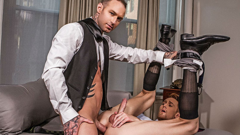 Emerson Palmer takes care of Dylan James' hard-on at Lucas Entertainment
