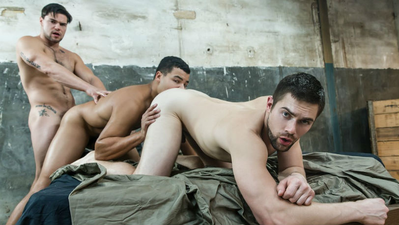 "Kaden Alexander, Griffin Barrows and Aspen in ""Star Wars"" part 8 from Men.com"