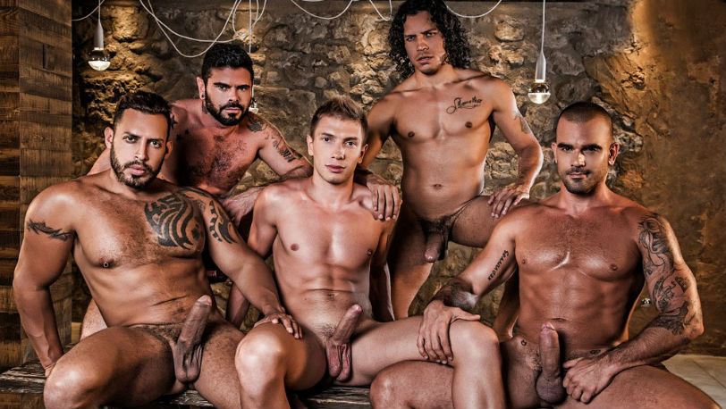 Damien Crosse bottoms for Alejandro, Viktor, Mario and Bogdan at Lucas Entertainment