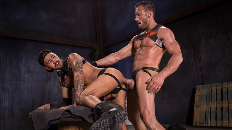 "Talon Reed fucks himself on Myles Landon's rod in ""WasteLand"" from Raging Stallion"