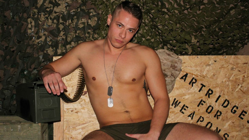 Aston Springs bends over the couch and slides a finger in at Active Duty