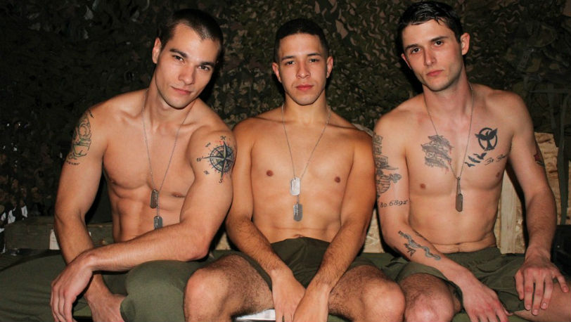 Princeton Price, Phillip Fox and Diego in an amazing three-way at Active Duty