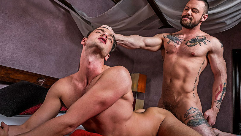 Sergeant Miles and Damon Heart in a RAW flip-fuck at Lucas Entertainment