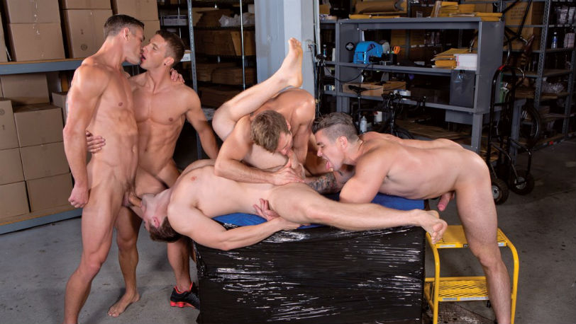 "Hot 5 guy orgy in ""Urban Spokes"" part 4 from Falcon Studios"