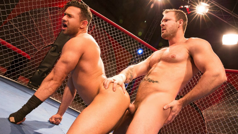 Austin Wolf fucks Josh Conners deep and hard until they're about to blow at Hot House