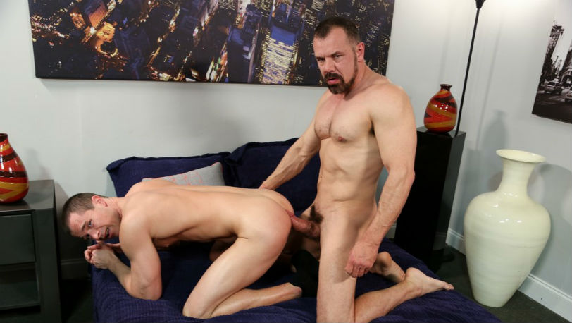Max Sergant struggles to get his cock in Kacey Jones' tight ass at Pride Studios