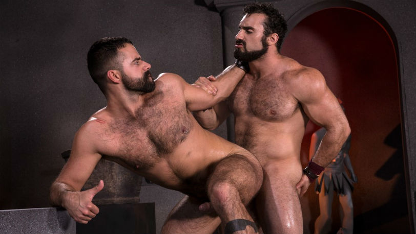 Jaxton Wheeler buries his tool inside Teddy Torres at Raging Stallion