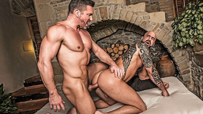 Angelo Di Luca works hard to take Tomas Brand' dick up his ass at Lucas Entertainment