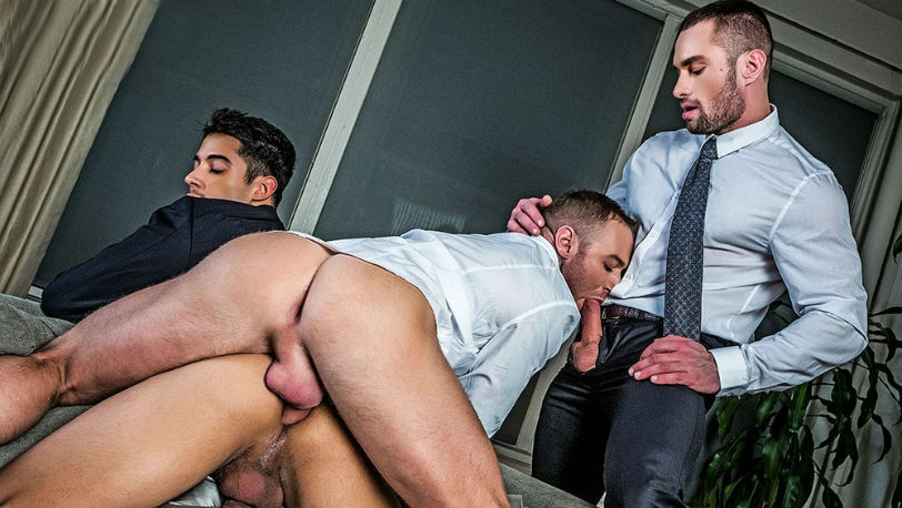 "Drae Axtell, Dylan James and Stas Landon in ""Gentlemen"" from Lucas Entertainment"