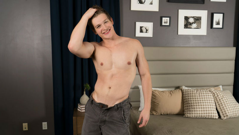 Muscle hunk Dillan has a nice ass and dick and a charming accent at Sean Cody