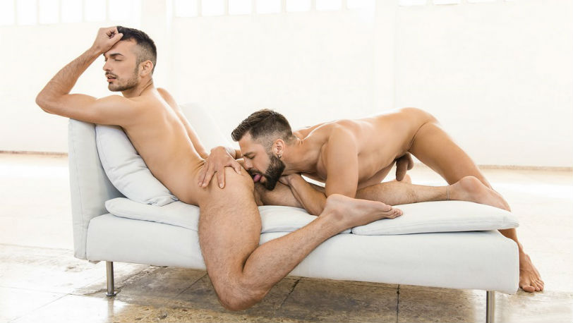 "Hector De Silva and Jean Favre in ""The Parlor"" part 2 from Men.com"