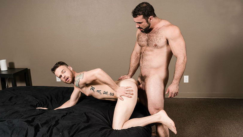Jaxton Wheeler throatfucks Max Wilde into submission at Bromo