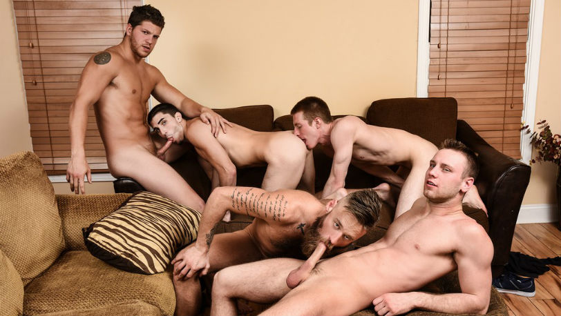 Brandon Evans, Ashton McKay, Damien Kyle, Hoytt Walker and Kyle at Men.com