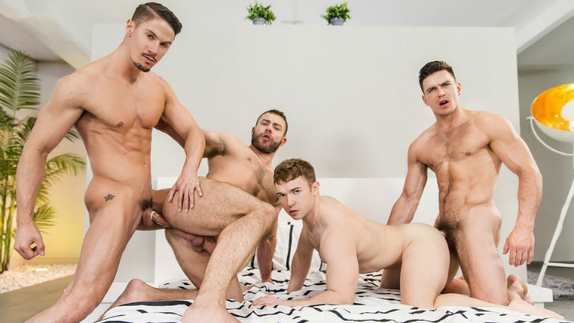 Paddy O'Brian, Diego Reyes, Gabriel Cross and Skyy Knox at Men.com