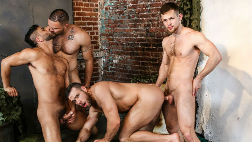 "Adam Ramzi, Alex Mecum, Kurtis Wolfe and Julian Knowles in ""Dangerous Days"" from Men.com"