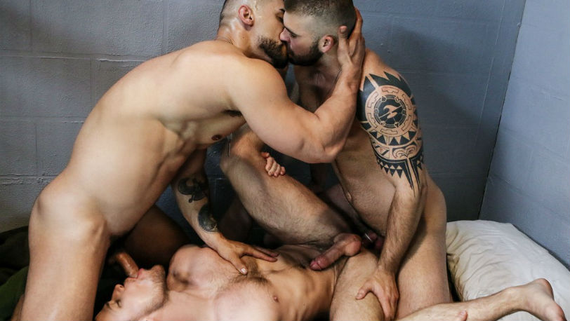 "Kurtis Wolfe, Arad Winwin and Jonah Fontana in ""Dangerous Days"" part 4 at Men.com"