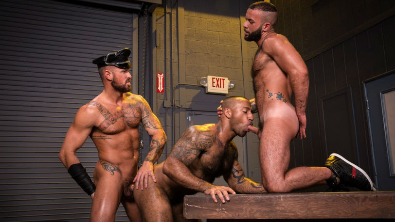 Michael Roman, Daymin Voss and Fernando Del Rio at Raging Stallion