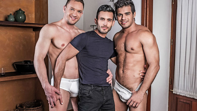 Andy Star, Andrey Vic and Rico Marlon fuck RAW at Lucas Entertainment