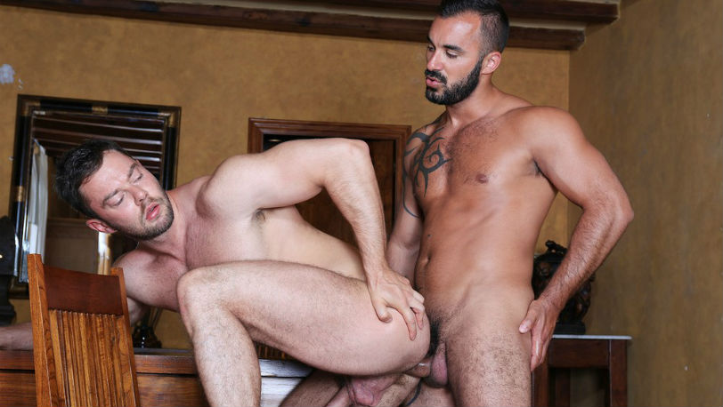 Xavi Duran plunges his meaty cock deep inside Patryk Jankowski at Kristen Bjorn