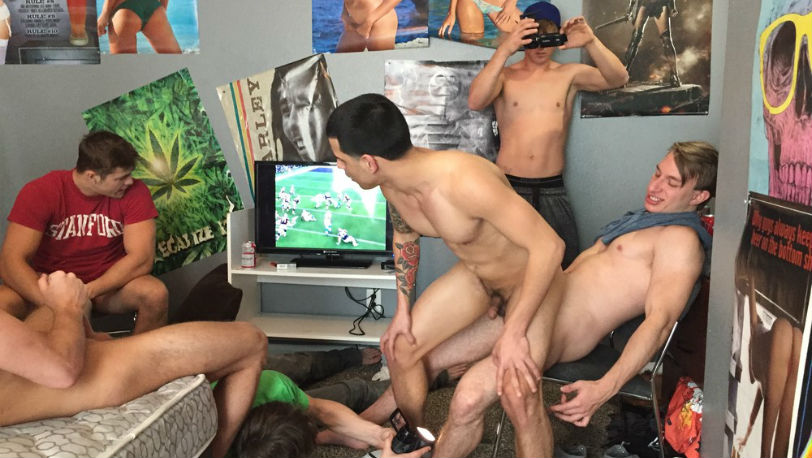 It's time to pay rent so Junior gets fucked by the guys from Fraternity X
