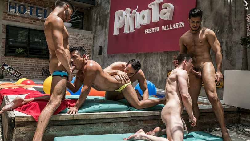 Scott, Rico, Ruslan, Daniel and Sebastian Oliver in a hot RAW orgy at Lucas Entertainment