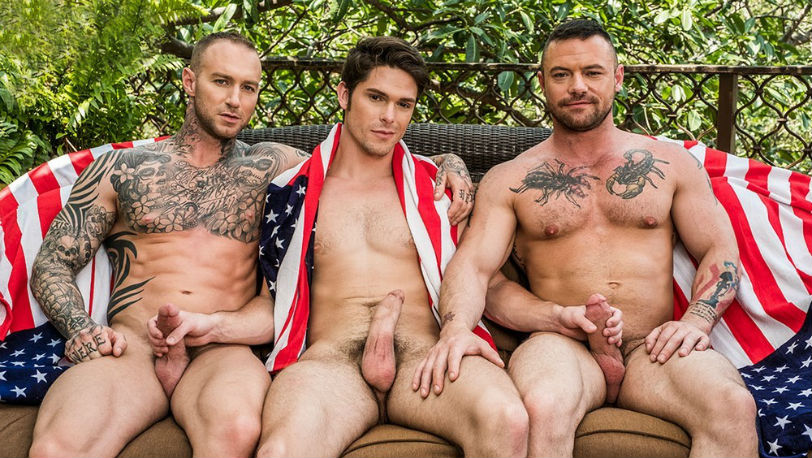 Devin Franco, Sergeant Miles and Dylan James at Lucas Entertainment
