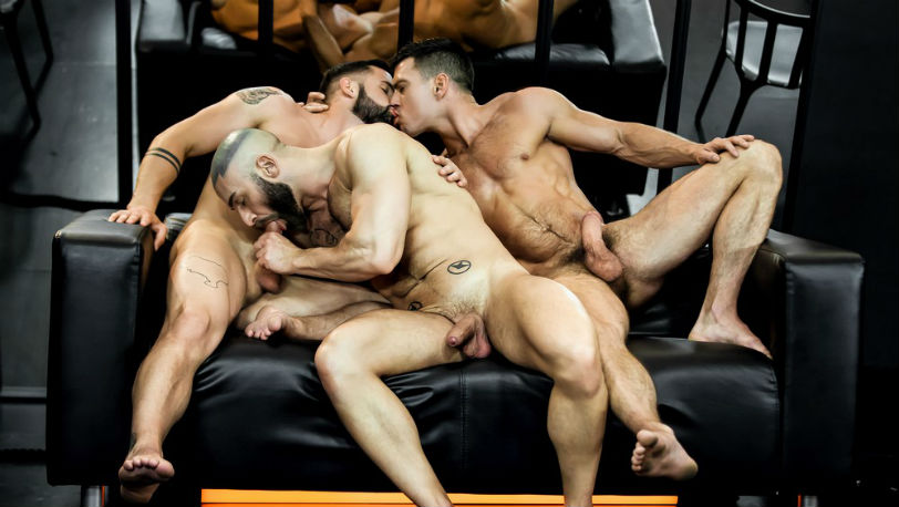 "Paddy O'Brian, Sunny Colucci and Francois Sagat in ""Dream fucker"" part 3 from Men.com"