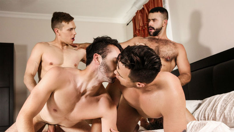 "Teddy Torres, Beau Reed, Ethan Chase and William Sawyer in ""SuPERVisor"" from Men.com"