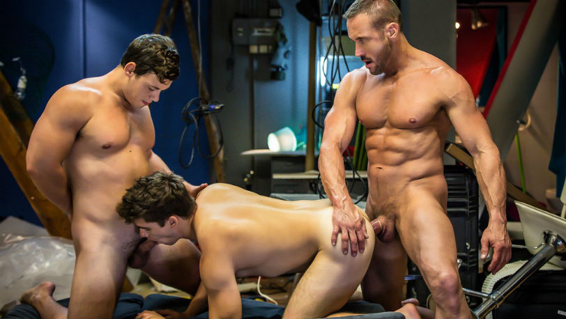 "Tobias, Will Braun and Myles Landon in ""Spiderman"" part 3 at Men.com"