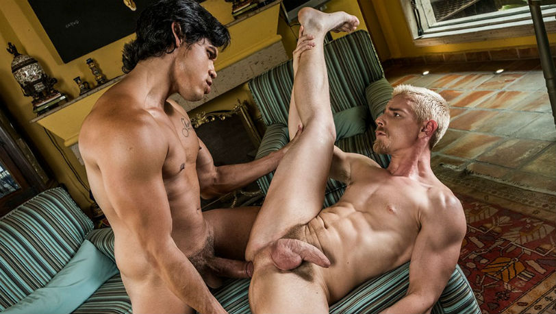Alejandro Castillo uses Cody Winter as his personal sex toy at Lucas Entertainment