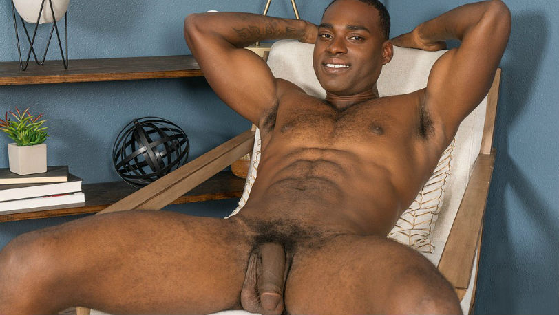 Desmond has abs of a god, and a big dick and big balls to go with it at Sean Cody