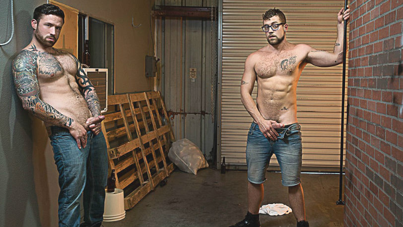 "Jordan Levine fucks the shit out of Jay Austin in ""Whore Alley"" part 2 from Bromo"