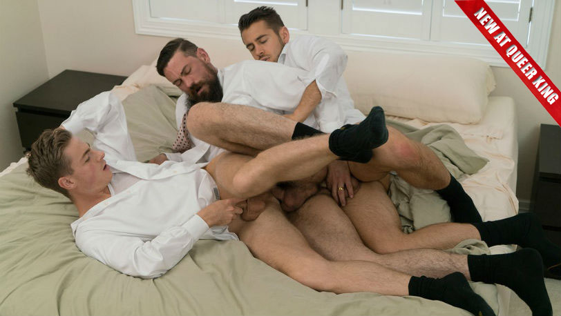 Elder Garrett, Brother Calhoun and Brother Strang are powerless to their sexual urges at Mormon Boyz