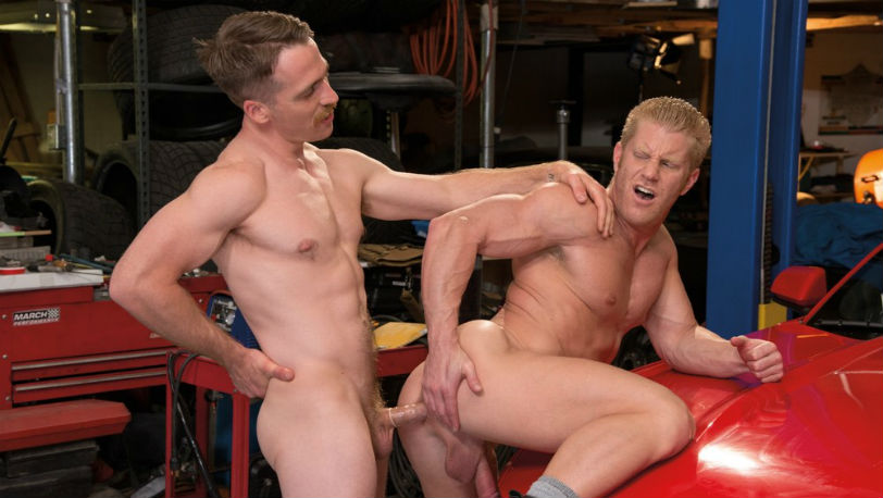 Nate Stetson decides to go a little deeper inside Johnny V's trunk at Falcon Studios