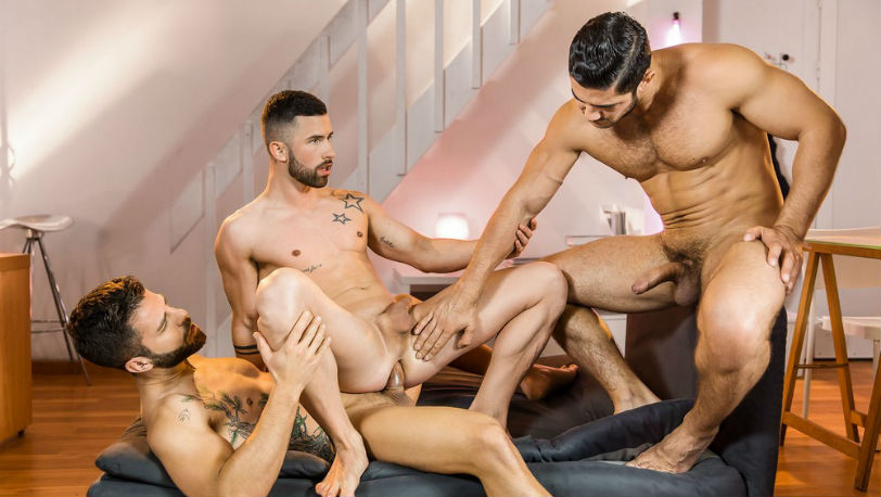 Dato Foland, Hector De Silva and Sunny Colucci in a hot Sexplosion at Men.com